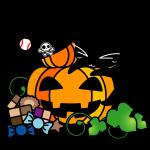 ハロウィンかぼちゃとボールネコ