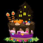 ハロウィンチョコケーキ