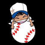 野球チビキャラ球遊び1