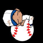 野球チビキャラ球遊び3