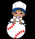 野球チビキャラ球遊び4