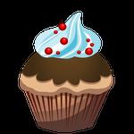 チョコソーダのカップケーキ