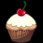 ホワイトチョコのカップケーキ