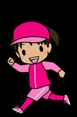 マラソンする女の子のイラスト2