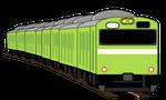 電車イラスト緑色