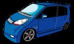 ワゴン車ブルー