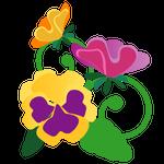 086花イラストパンジー(10~5月)