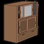 087片付け-古い茶棚