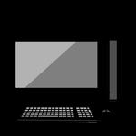 黒いパソコン