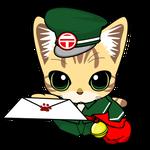 109_フリーイラスト猫の郵便お届けです