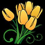 120_花チューリップ黄色