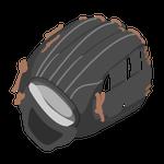 野球グローブ黒