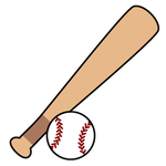 142野球バットとボール