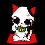 162可愛い三毛の金運招き猫