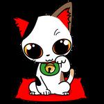 163可愛い三毛の福運招き猫
