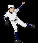 171野球イラスト投手.リトルシニア