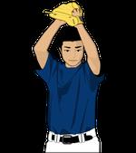 172野球イラスト投手振りかぶって