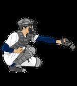 173野球イラスト捕手