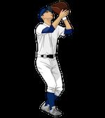 183野球イラスト野手フライキャッチ