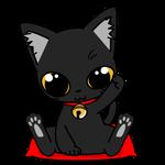189可愛いクロ猫の厄難消除招き猫
