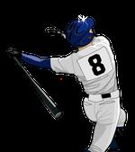 190野球イラストバッター8