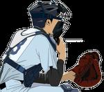 191野球イラスト捕手