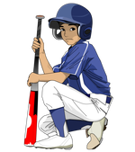 192野球イラストネクストバッター少年