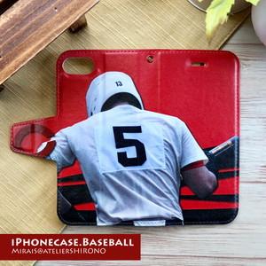 野球iPhone手帳ケース・オーダーメイド