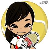 可愛い似顔絵テニスJ.T娘さん