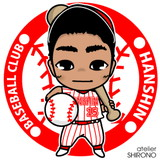 可愛い似顔絵野球T.S.Jr君