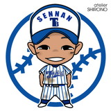 可愛い似顔絵野球少年3