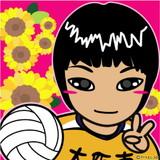 可愛い似顔絵排球乙女