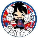 可愛い似顔絵排球乙女Yちゃん