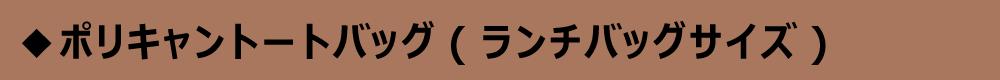 ポリキャントートバッグ(ランチバッグサイズ)