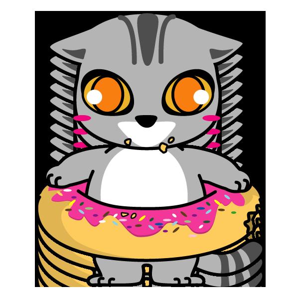 ネコキャラクターイラスト