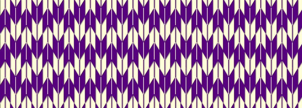 幾何学模様の和柄、矢絣