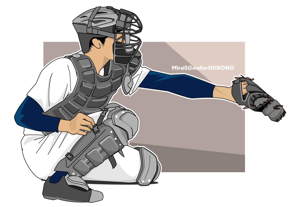 かっこいい野球イラス球児の似顔絵
