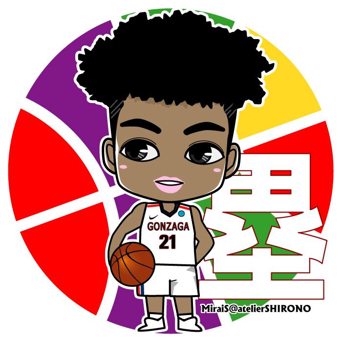 可愛い似顔絵・八村塁選手・バスケットボール選手