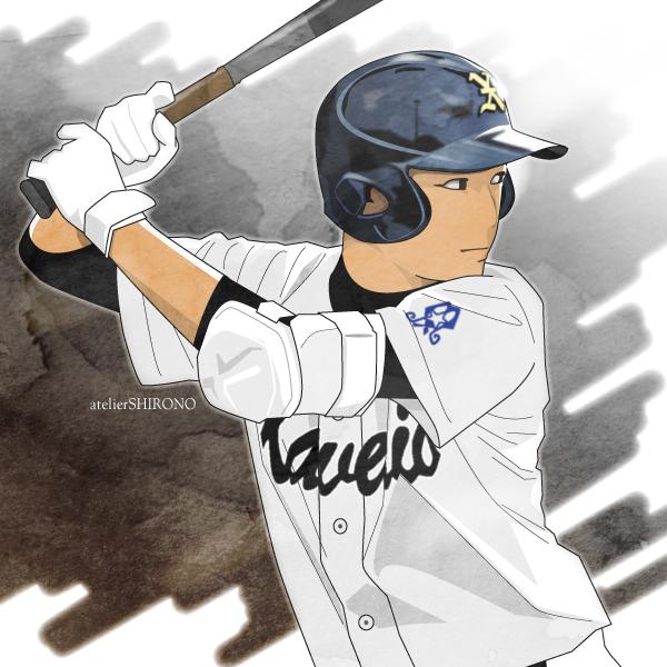 写真から描きおこし。かっこいい似顔絵_野球イラスト